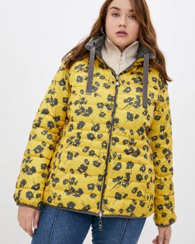 Желтая утепленная куртка Elena Miro