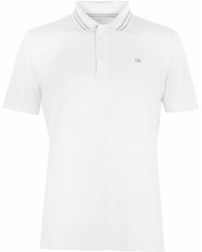 Biały golf zapinane na guziki Calvin Klein