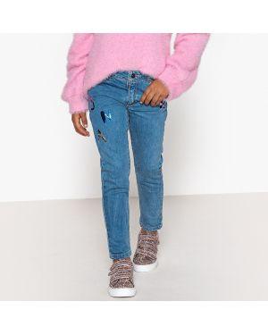 Голубые джинсы с поясом La Redoute Collections