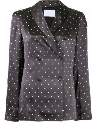 Блузка с длинным рукавом в горошек прямая Asceno