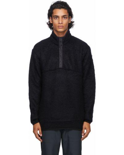 Długi sweter wełniany z długimi rękawami Nanamica