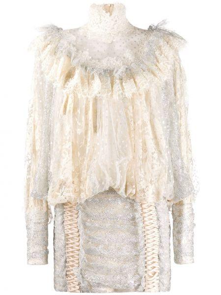 Платье мини облегающее ажурное Zimmermann