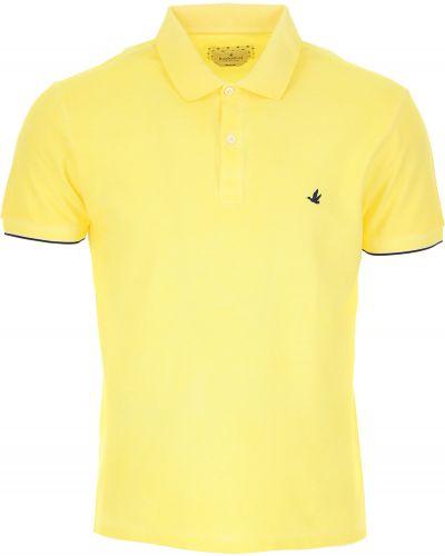 Żółty t-shirt bawełniany krótki rękaw Brooksfield