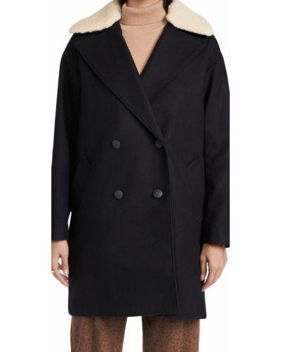 Płaszcz wełniany - czarny Rag & Bone