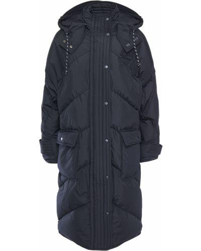 Черное пуховое пальто с капюшоном Mcq Alexander Mcqueen