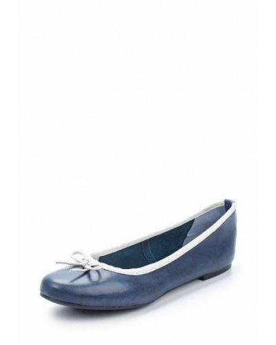 Синие балетки Marco Tozzi