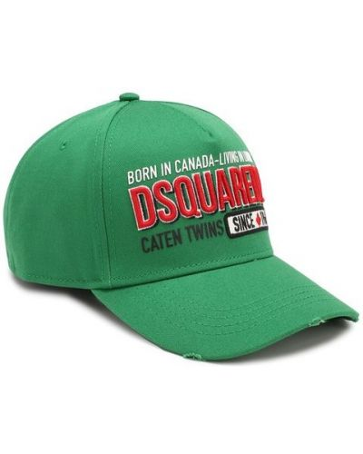 Зеленая бейсболка Dsquared2