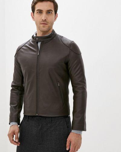 Коричневая кожаная куртка Btc