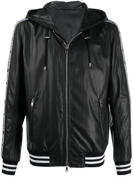 Куртка с капюшоном - черная Balmain
