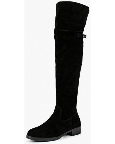 Черные ботфорты замшевые Tamaris
