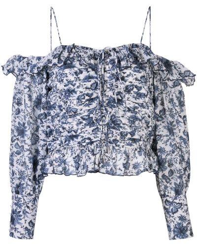 Блузка с длинным рукавом с оборками с манжетами на пуговицах Robert Rodriguez Studio