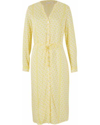 Желтое платье рубашка Bonprix