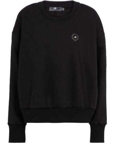 Трикотажный теплый черный свитшот Adidas By Stella Mccartney