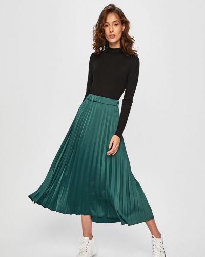 Расклешенная плиссированная юбка на резинке в рубчик Answear