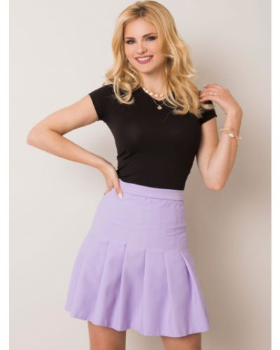 Fioletowa spódnica materiałowa Fashionhunters