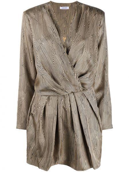 С рукавами шелковое платье с запахом с V-образным вырезом Anine Bing