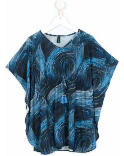 Tunika z printem - niebieska Lygia & Nanny