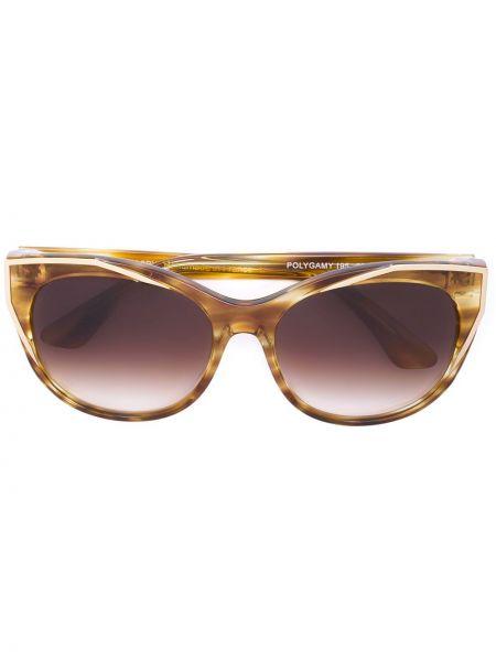 Муслиновые желтые солнцезащитные очки круглые Thierry Lasry