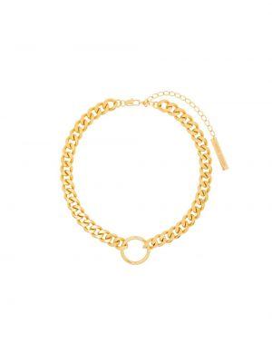Złote okulary oversize Frame Chain