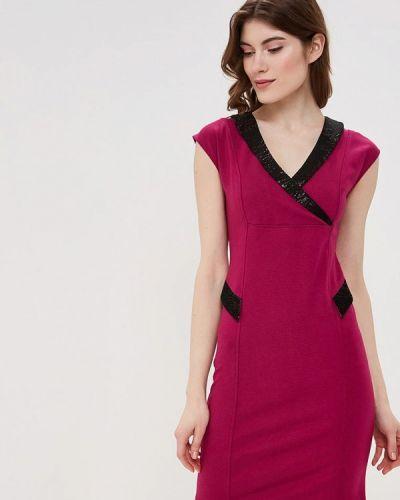 Вечернее платье розовое осеннее Maria Rybalchenko