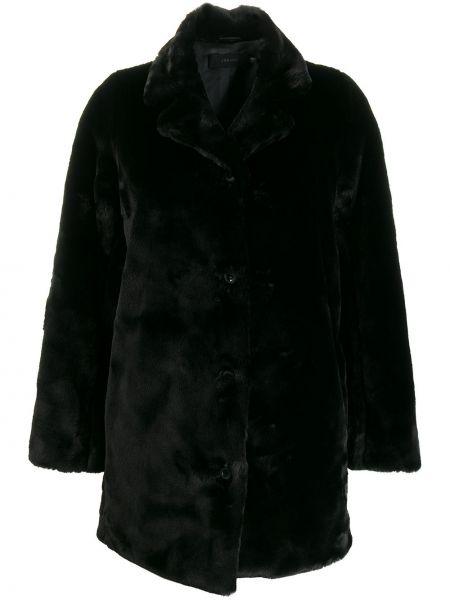 Длинное пальто без воротника укороченное J Brand