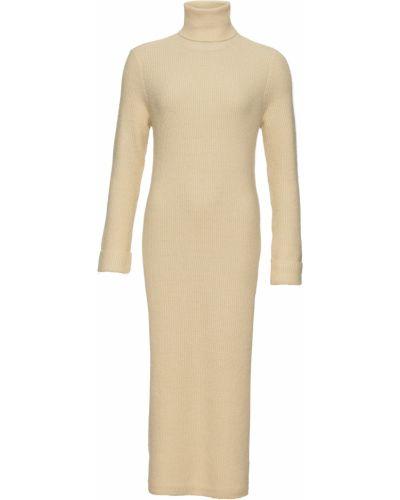 Вязаное платье макси - бежевое Bonprix