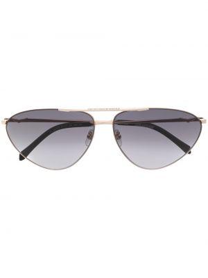 Złote czarne okulary Zadig&voltaire