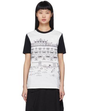 Рубашка с коротким рукавом белая без воротника Lanvin