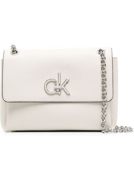 Biały łańcuch ze srebra srebrny Calvin Klein