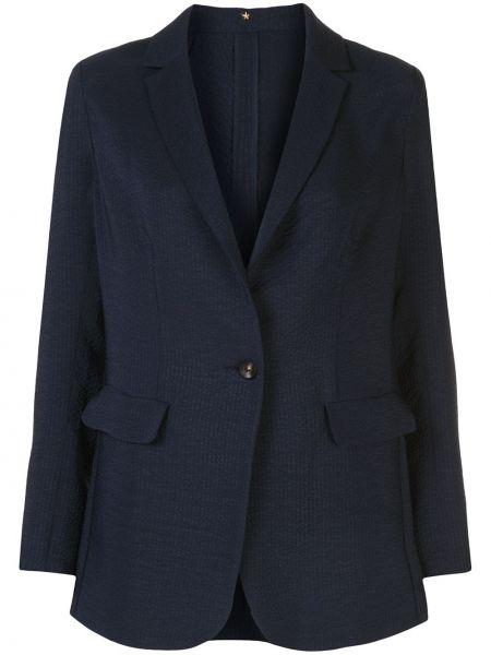 Прямая синяя куртка на пуговицах с карманами Peter Cohen