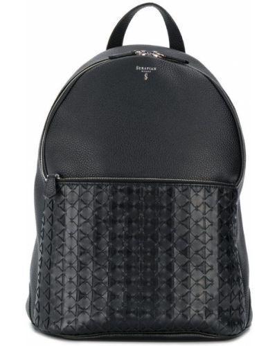 Рюкзак черный на молнии Serapian