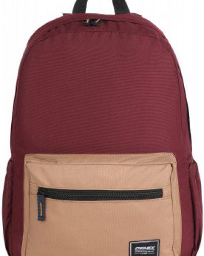 Спортивный красный рюкзак для ноутбука на бретелях на крючках Demix