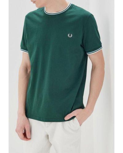 Зеленая футболка Fred Perry