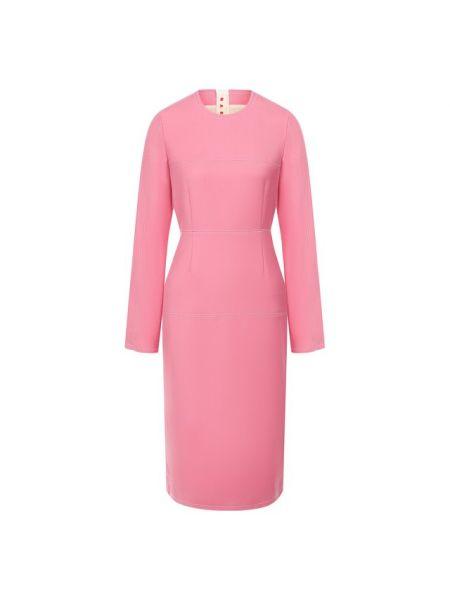 Платье розовое осеннее Marni