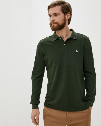 Зеленое с рукавами поло United Colors Of Benetton