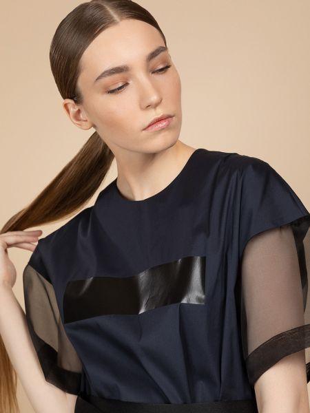 Платье с поясом с прозрачными рукавами спортивное Vassa&co