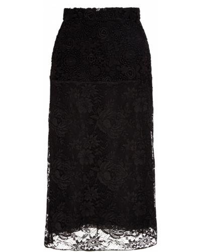 Юбка миди с завышенной талией из вискозы Prada