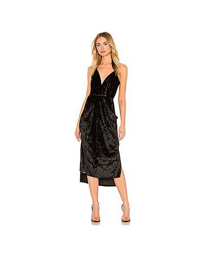 Платье миди с запахом вельветовое Bcbgeneration