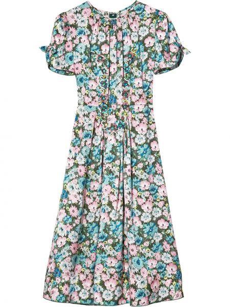 Шелковое платье миди - синее Marc Jacobs