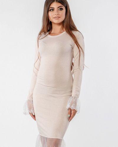 Вечернее платье осеннее розовое Margo