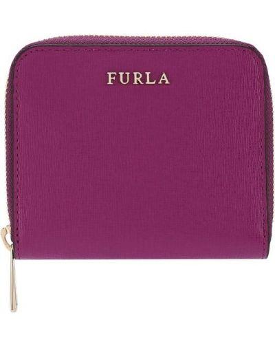 Фиолетовый кошелек кожаный Furla