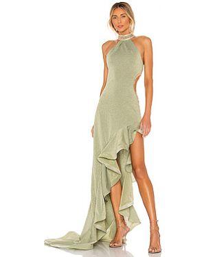 Вечернее платье из вискозы с люрексом Bronx And Banco