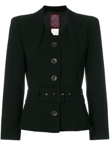 Шерстяная черная куртка винтажная John Galliano Pre-owned