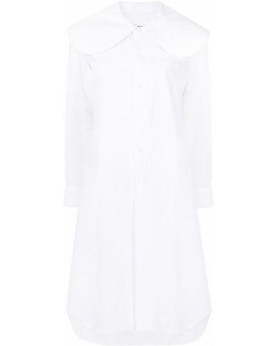 Платье макси с длинными рукавами - белое Comme Des Garçons