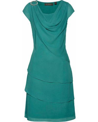 Платье с изумрудом шифоновое Bonprix