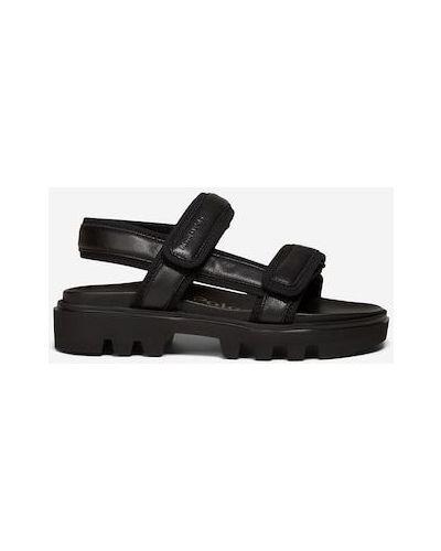 Czarne sandały w paski Marc O Polo