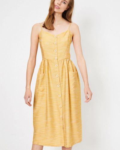 Желтый сарафан Koton