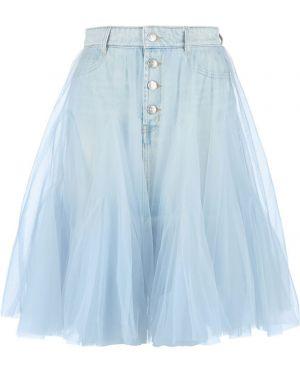 Юбка мини джинсовая сетчатая Miss Sixty
