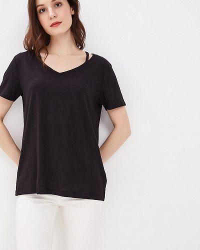 Черная футболка S.oliver