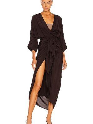Черное платье из крепа Haight